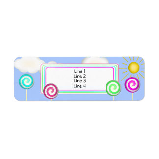 Lollipop land return address label