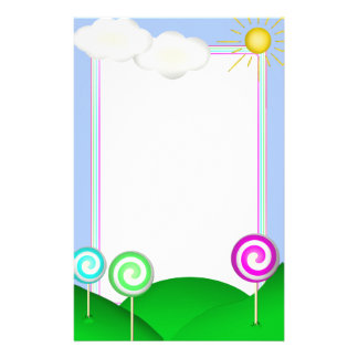 Lollipop land stationery paper