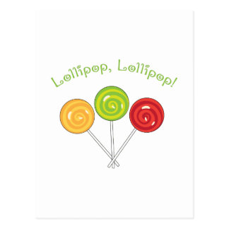 Lollipop Lollipop Postcard