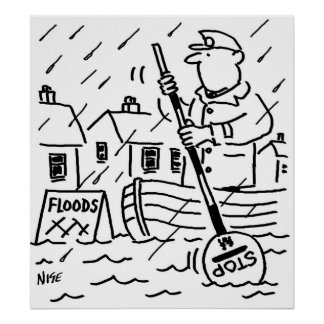 Lollipop Man is Rowing a Boat in the Floods Poster