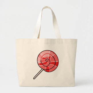 LolliPop red Large Tote Bag