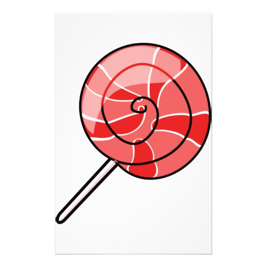 LolliPop red Stationery Design