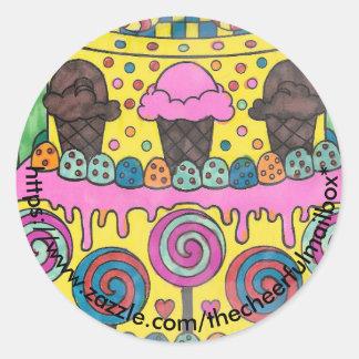 Lollipop Round Sticker