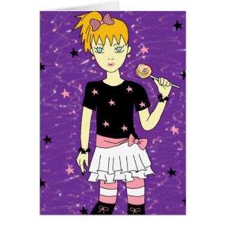 Lollipop Stars Girl Card
