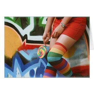 Lollipops and Rainbows - Blank Card