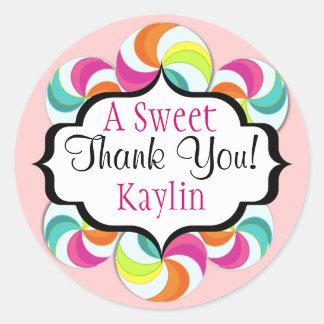 Lollipops Sweet Thank You Stickers
