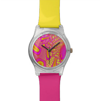 LollyPoP 3D Fused Glass Fractal Wristwatches