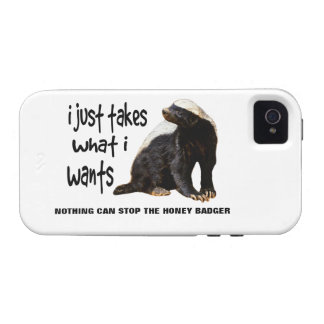 LOLS Style Honey Badger. I just takes what I wants iPhone 4/4S Cases