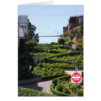 Lombard St San Francisco Card