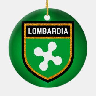 Lombardia Flag Ceramic Ornament