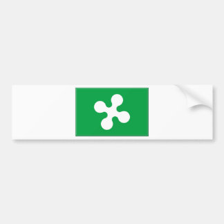 Lombardy (Italy) Flag Bumper Sticker