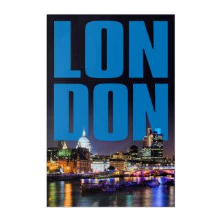 LONDON ACRYLIC WALL ART