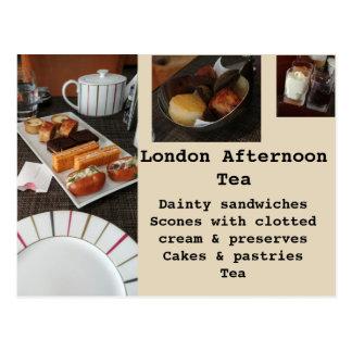 London Afternoon Tea Postcard