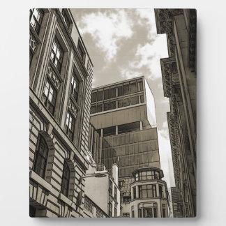 London architecture. photo plaques