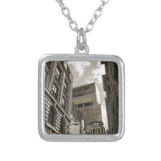 London architecture. silver plated necklace
