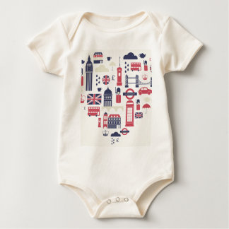 London at Heart Baby Bodysuit