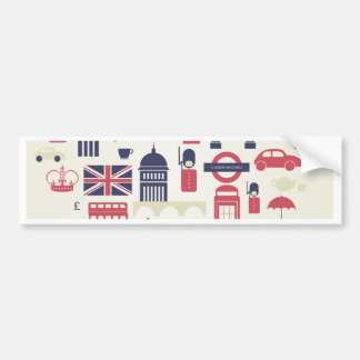 London at Heart Bumper Sticker