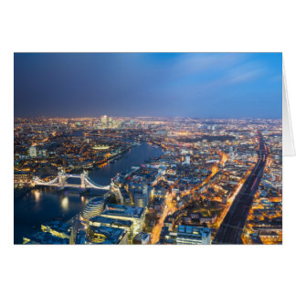London at night - Aerial View greeting card