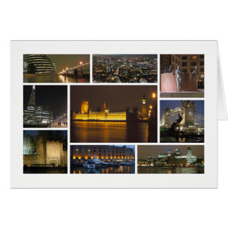 London at night multi-image card