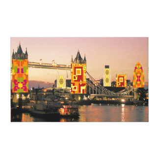 London Autumn Collage Canvas Print