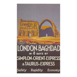 London Baghdad simplon orient express Posters