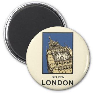 London Big Ben 6 Cm Round Magnet