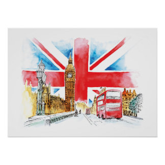 London Big Ben Canvas Poster