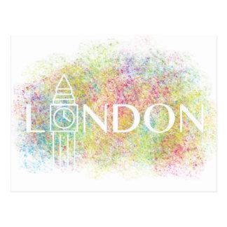 london Big Ben Colour Splash (White) Postcard