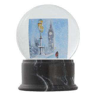 London Big Ben couple in the snow winter scene Snow Globe