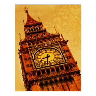 London, Big Ben grunge Postcard