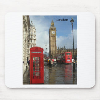 London Big Ben Phone box (by St.K) Mouse Pads