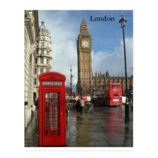 London Big Ben Phone box (by St.K) Postcard