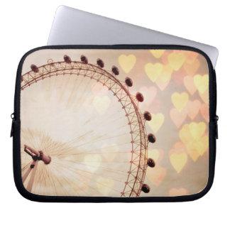 London | Big Ben Photograph Filtered Nightime Laptop Sleeve