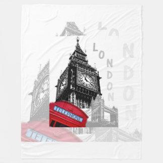 London Big Ben Red Telephone Fleece Blanket