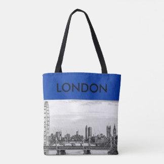 London Big Ben Thames River Canvas Tote Bag