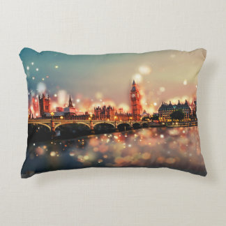 London, Big Ben, Tower Bridge Decorative Cushion