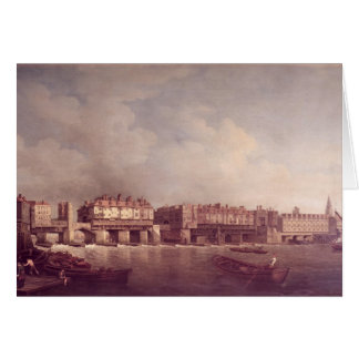 London Bridge before the Alteration in 1757 Card