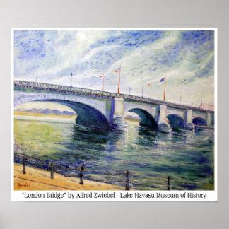 London Bridge by Alfred Zwiebel Poster