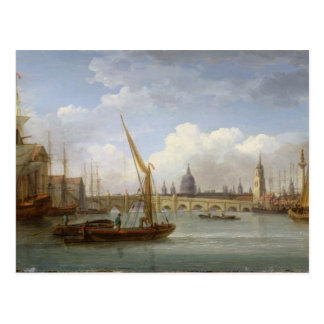 London Bridge, with St. Paul's Cathedral in the Di Postcard