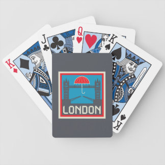 London Bridge with Umbrella Bicycle Playing Cards