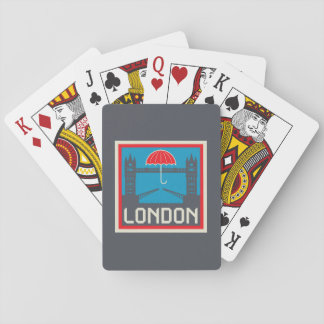 London Bridge with Umbrella Playing Cards