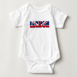 London British flag Baby Bodysuit