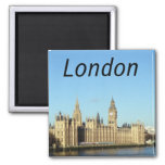 London, British parliament and the BigBen Square Magnet