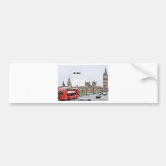London Bus & Big Ben (St.K) Bumper Sticker
