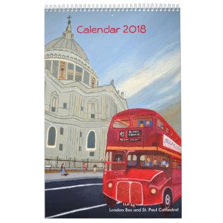 London Bus Calendar 2018