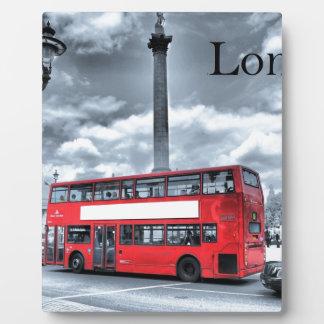 LONDON BUS in Black & White (St.K) Plaques