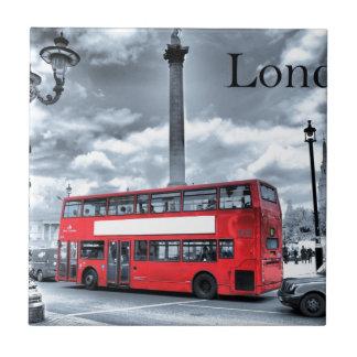LONDON BUS in Black & White (St.K) Tile