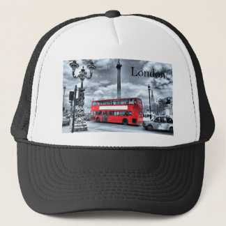 LONDON BUS in Black & White (St.K) Trucker Hat