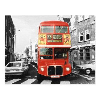 London Bus Painting Style Postcard