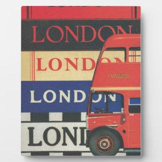 London bus photo plaque